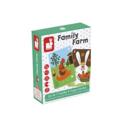 Janod Card Game - Family Farm